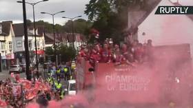 WATCH: Liverpool hold Champions League parade as thousands of fans pack the streets