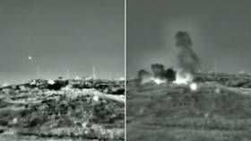 Israeli Army shares VIDEO of strike & hit on Syria during air raid