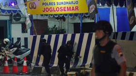 Failed suicide bomber wounds himself outside police station in Indonesia