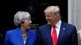 Twitter cringes at Trump and May's lack of handshake, but all's not what it seems (VIDEO)