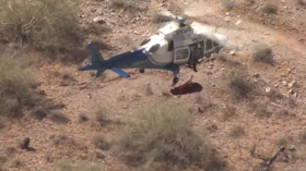 Not so uplifting story: Injured hiker violently spun in NAUSEATING helicopter rescue (VIDEO)