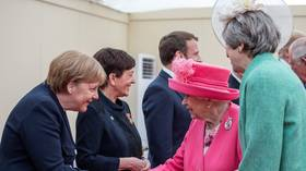Huh? Queen introduced to leaders of WWII D-Day 'allied nations'... including Germany's Merkel