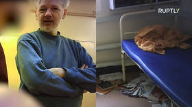 Exclusive: First VIDEO of Julian Assange in Belmarsh prison