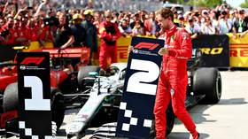Furious Vettel swaps finish boards as Ferrari star throws strop after being denied Canada GP win