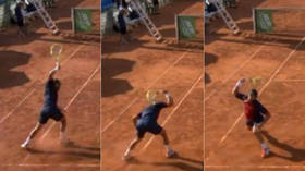 'Tennis tantrum of the year': Watch Spanish player launch into epic racket-smashing meltdown (VIDEO)