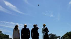 F-35 jets conduct White House flyover  (VIDEO)