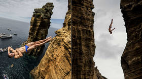 Off the cliff: Daredevil divers to compete on volcanic rocks in Portugal (PHOTOS, VIDEO)