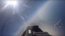 COCKPIT VIDEO: Russian fighter 'intercepts' US B-52H strategic bomber