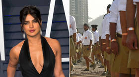 Actress Priyanka Chopra creates social media stir with 'RSS-inspired' khaki shorts (PHOTOS)