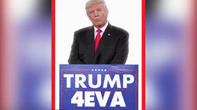 Trump tweets meme video showing him ruling '4EVA'