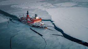 WATCH Russian nuclear icebreakers conquer the Arctic in stunning time-lapse & drone VIDEO