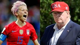 Donald Trump warns U.S. Women's World Cup star Megan Rapinoe not to 'disrespect' the flag