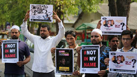 'End lynch terror': Indians protest brutal beating of Muslim man (PHOTOS)