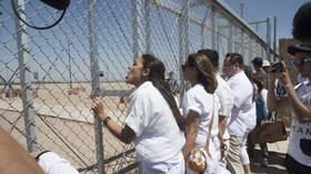 AOC was actually facing an empty parking lot during emotional border protest photo op