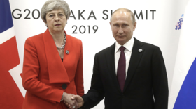 'Like a divorce hearing': Stony-faced May greets Putin with ice-cold handshake at G20 (VIDEO)