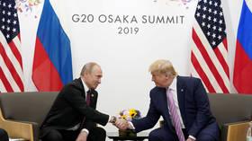 'Great term, isn't it?' Putin and Trump bond over 'fake news'