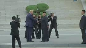 Trump makes history as he crosses into N. Korea, speaks of 'GREAT FRIENDSHIP' with Kim (VIDEO)