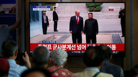 Trump thanks Kim for showing up at DMZ, because 'press would make me look bad' if he hadn't