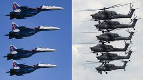 Russian fighter jet & helicopter aerobatic squads amaze crowds at Army-2019 expo (VIDEOS)