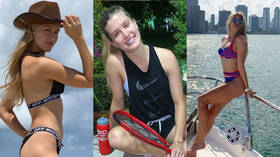 Tennis temptress Bouchard needs a quarantine doubles partner... and there's no shortage of offers (PHOTOS)