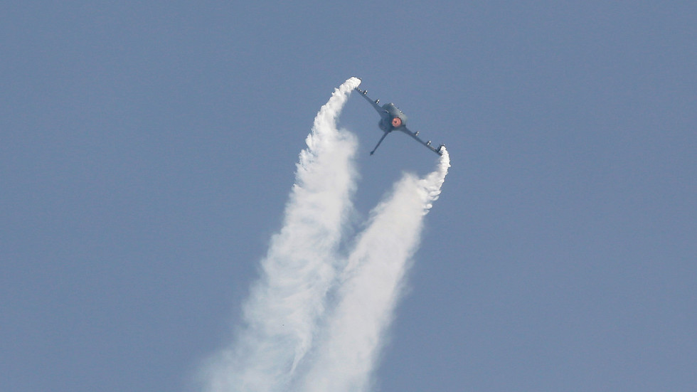 Indian Air Force jet forced to jettison fuel tanks, creating huge crater in local farm