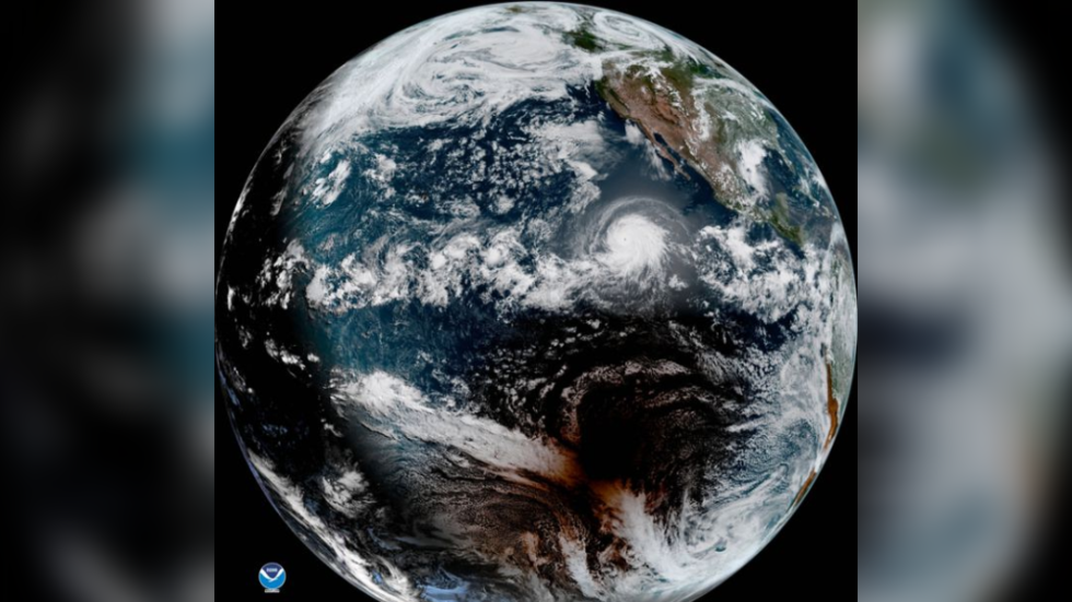 Incredible satellite footage catches huge hurricane and solar eclipse at the same time (VIDEOS)