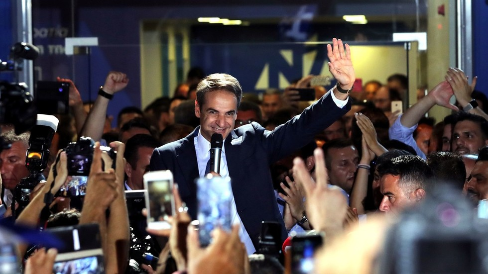 Conservatives win Greek election with promise to revive economy, unseating leftist Syriza