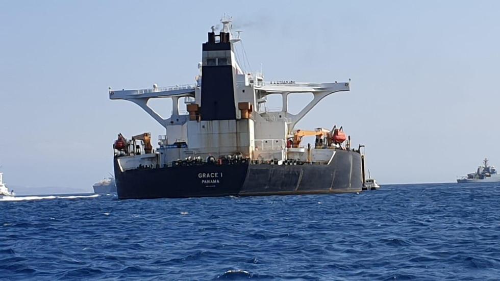 Gibraltar police arrest Iranian tanker's captain, chief officer