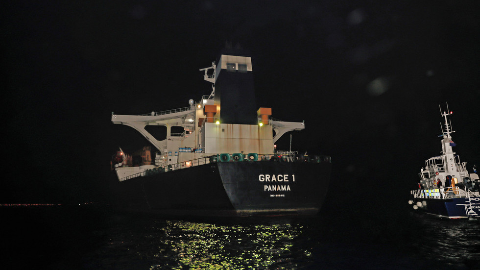 Iranian oil tanker crew bailed without charges but vessel remains impounded in Gibraltar