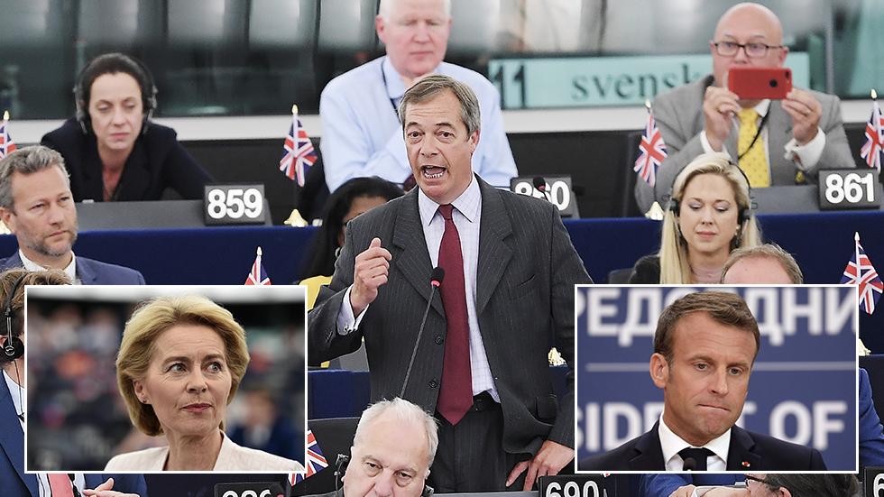 'Updated communism & Napoleon': Farage savages EU Commission head nominee & Macron