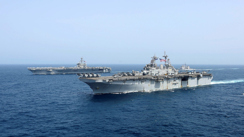 Sailor missing from US aircraft carrier rehearsing strike on Iran's doorstep