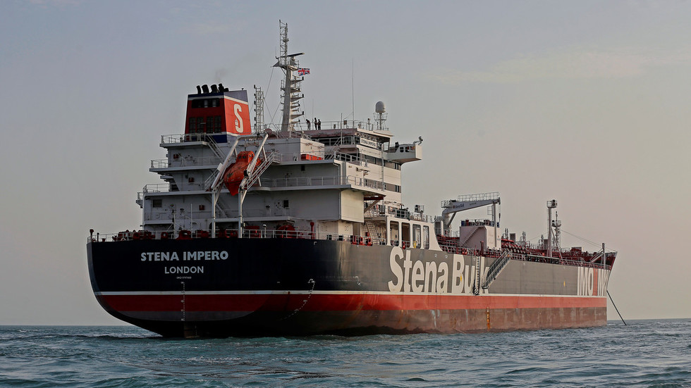 Iranian TV shows video of detained crew on seized British tanker