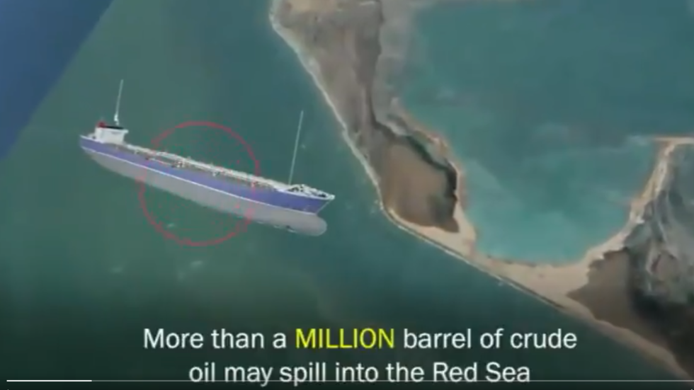 'Ticking bomb': Abandoned tanker in Red Sea could EXPLODE & spill 1m barrels of oil into the ocean