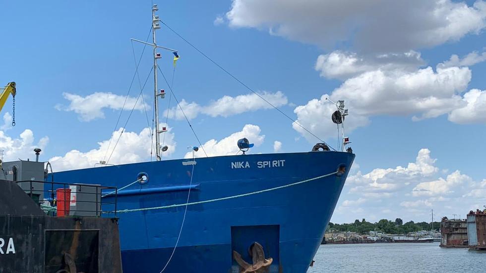 'Nika Spirit' foi detido no porto de Izmail © Serviço de Guarda de Fronteiras do Estado da Ucrânia / Divulgação via REUTERS