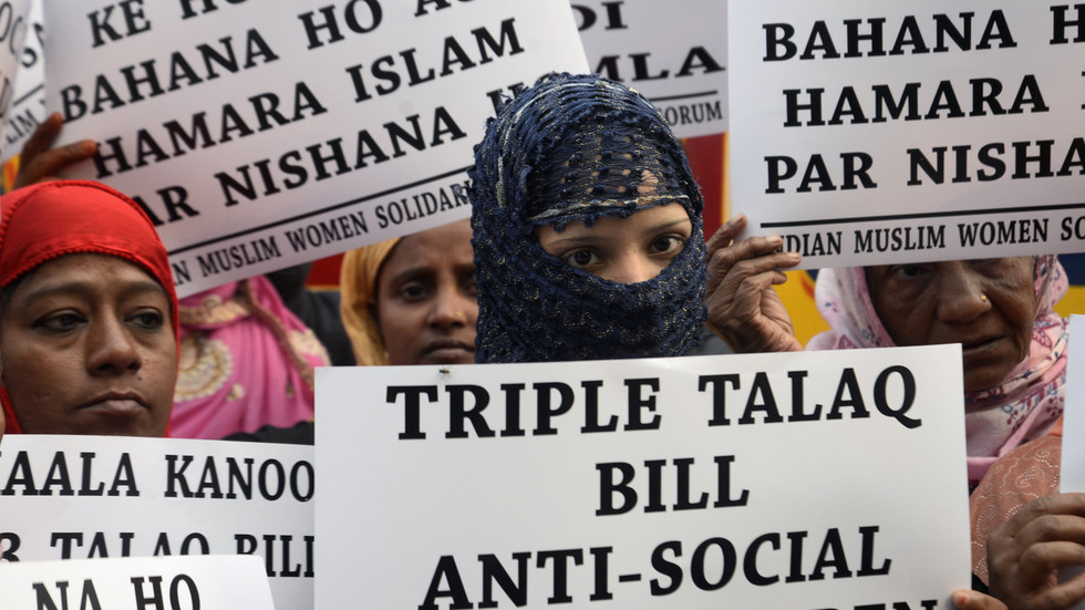 Opposition walks out as Muslim 'instant divorce' bill passes India's lower house of parliament