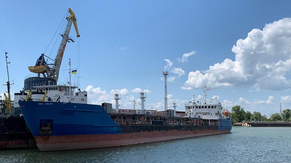 Ukraine arrests Russian tanker it stopped & searched last week