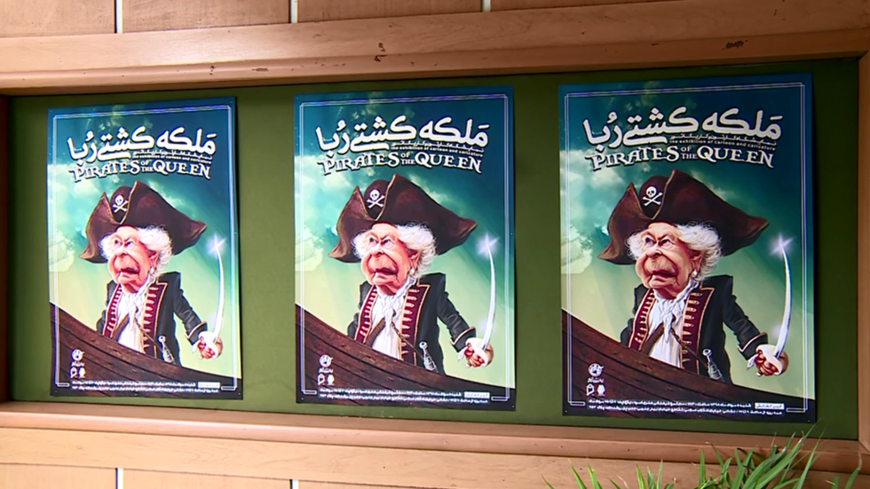 'Pirates of the Queen': Iranian cartoonists tear into Britain for oil tanker seizure