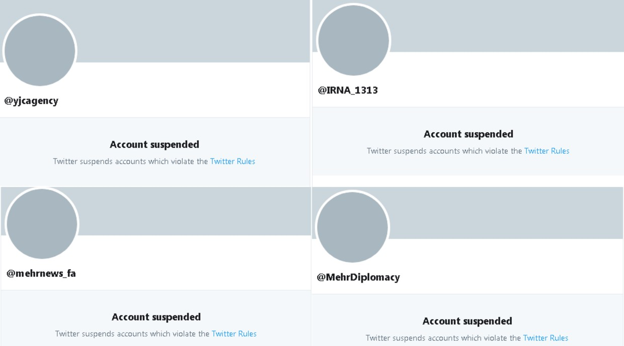 Twitter blocks accounts of Iranian state media outlets