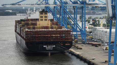 The seized MSC Gayane cargo ship © AFP / Dominick Reuter