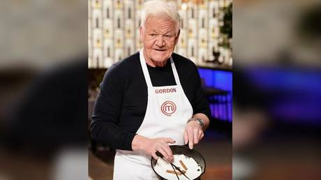 "British celebrity chef Gordon Ramsay, ""aged"" through a photo filter on FaceApp."