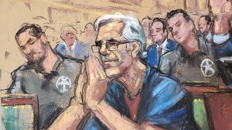 A court sketch of Jeffrey Epstein, made during his bail hearing in New York © Reuters / Jane Rosenberg
