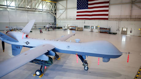 MQ-9 Reaper drone. В© AFP / Getty Images North America / Isaac Brekken