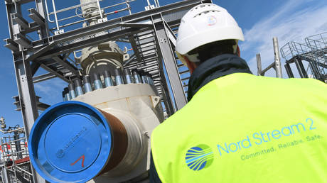 Construction site of the Nord Stream 2 in Mecklenburg-Western Pomerania, Germany
