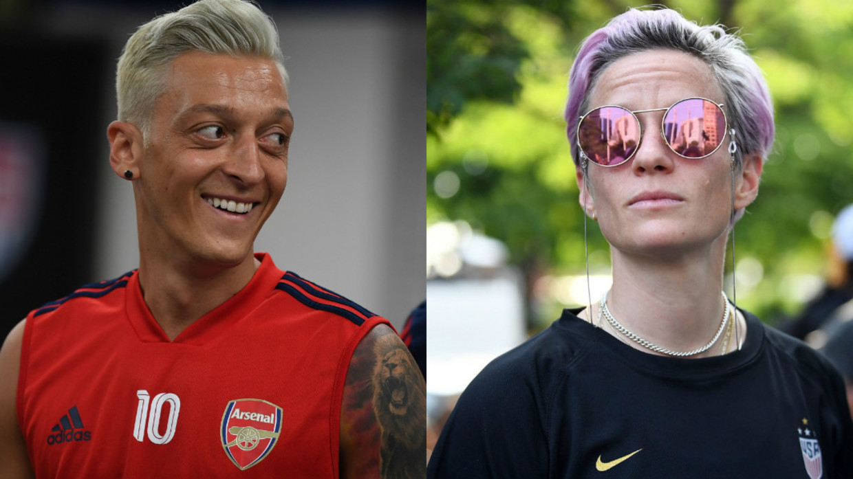 Mesut Ozil Or Megan Rapinoe Arsenal Ace Mercilessly Mocked For New Hairstyle After Losing Bet Rt Sport News
