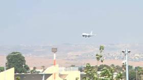 Plane with shredded tire lands safely at Tel Aviv's Ben Gurion airport