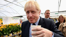 'Crazy': Boris Johnson heckled in febrile cauldron of... an English garden center (VIDEO)
