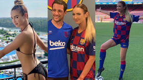 Sign her up! Russian pop princess trains at Barcelona (PHOTOS)