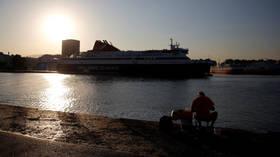 Greek ferries tied up in port as seamen's union calls in 24-hour strike