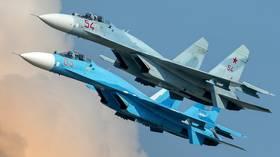 Russian Su-27 fighter jet scrambled to intercept US surveillance plane over Black Sea