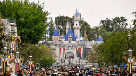 'Hold my daughter!' Vicious Disneyland family brawl caught on VIDEO